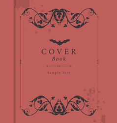 Book cover with antique style ornamental frame vector