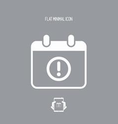 Calendar alert - minimal icon vector