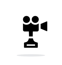 Camera cup simple icon on white background vector image