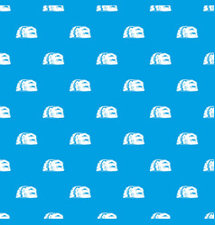 cave painting pattern seamless blue vector image