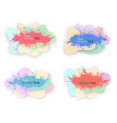collection of modern colorful abstract watercolor vector image