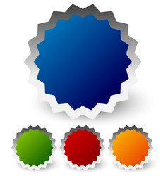 Colorful badges starbursts vector