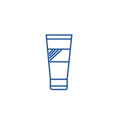 cream line icon concept cream flat symbol vector image