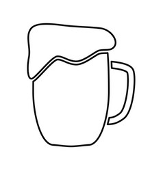 Cup beer black color icon vector
