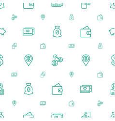 currency icons pattern seamless white background vector image