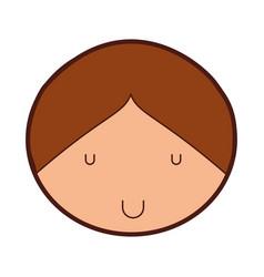 Cute boy drawing icon vector