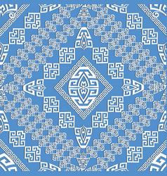 elegance light blue geometric greek seamless vector image