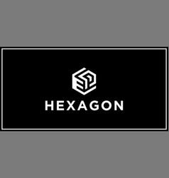 Ep hexagon logo design inspiration vector