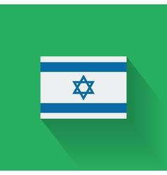 Flat flag israel vector