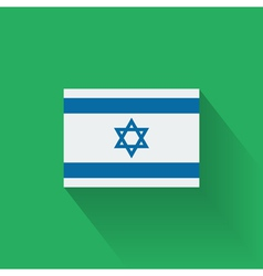 Flat flag of Israel vector image