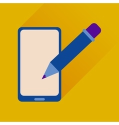 Flat web icon with long shadow mobile notes vector