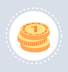 golden coins stack money savings growth wealth vector image