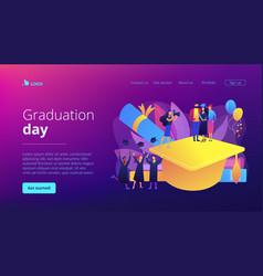 graduation concept landing page vector image