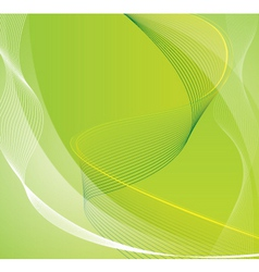 green line background vector image