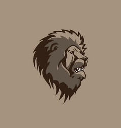 Head lion design vector
