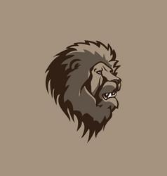 head lion design vector image