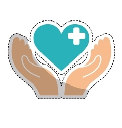 Heart cross icon vector