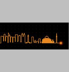 jakarta light streak skyline vector image