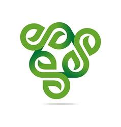 Logo Design Go Green Garden Plants Circle Icon vector image vector image