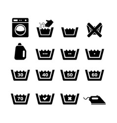 machine wash icon vector image