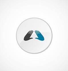 Massage icon 2 colored vector
