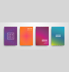 Modern futuristic abstract geometric covers set vector