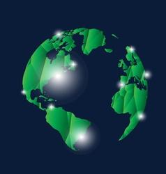 Modern globe design vector