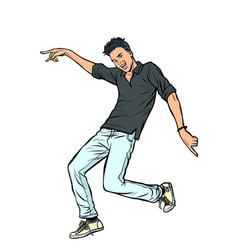 modern young man dancing vector image