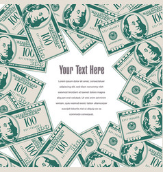 money frames this space for your text vector image