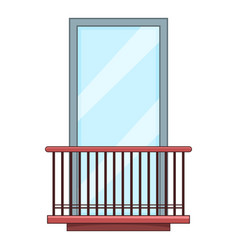 Narrow balcony icon cartoon style vector
