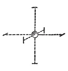 Octahedral structure vintage vector