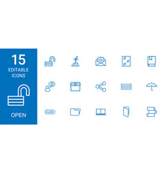 Open icons vector