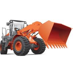 orange front end loader vector image