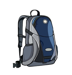 painted by backpack gray blue vector image