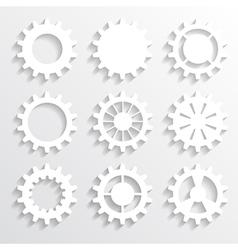 paper gears vector image