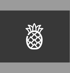 pineapple icon sign symbol vector image