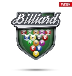 Premium symbol of Billiard label vector image