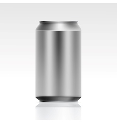 Realistic Metal Can vector image