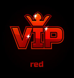 Red vip symbol vector