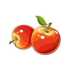 Ripe juicy apple vector