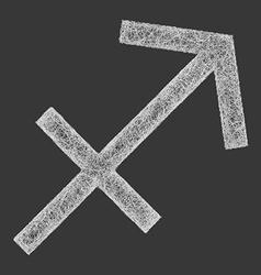 Sagittarius zodiac sign line art vector