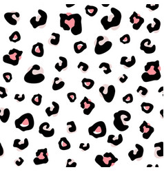 seamless animal pattern with leopard dots vector image