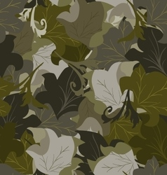 Seamless background of leaves vector image