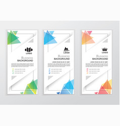 Set of business colorful banners triangle vector