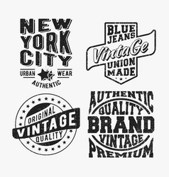 Set of various vintage stamp vector