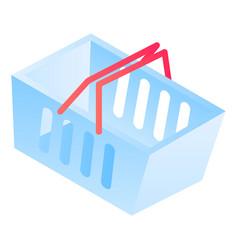 shop basket icon isometric style vector image