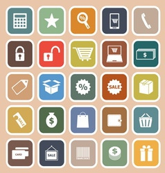 Shopping flat icon on orange background vector image