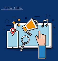 social media networks vector image