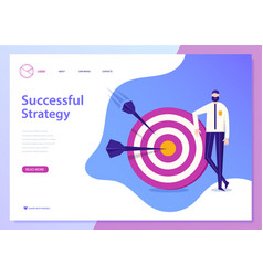 Successful busines strategy concept web vector