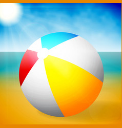 summer colored rubber inflatable beach ball on vector image